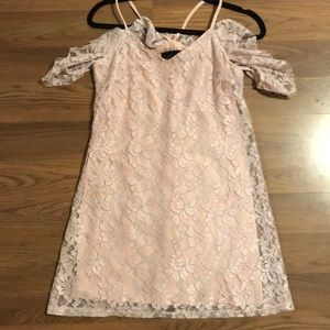Flowy Lace Off Shoulder with Stars Dress! Size S